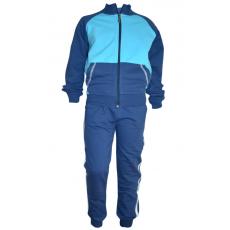 17-71116814 Спортивный костюм для мальчика, 7-11 лет, синий\бирюзовый