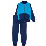 17-71116882 Спортивный костюм для мальчика, 7-11 лет, т-синий