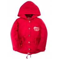 020-83101P Парка для девочки, 6-9 лет, красный