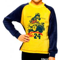 12200-2 Толстовка велюровая для мальчиков, 5-8 лет