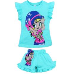 """20-00101 """"Girliel"""", костюм для девочки, 1-4 года, бирюзовый"""