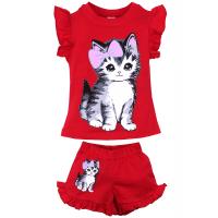 """20-00101 """"CAT"""", костюм для девочки, 1-4 года, вишневый"""