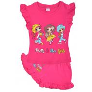 """20-5102-2 """"Nice Girls"""", костюм для девочки, 1-4 года, малиновый"""