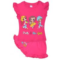 """20-5102 """"Nice Girls"""", костюм для девочки, 1-4 года, малиновый"""