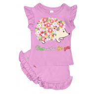 """20-5103-2 """"Цветочный Ежик"""", костюм для девочки, 1-4 года, сиреневый"""