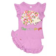 """20-5103 """"Цветочный Ежик"""", костюм для девочки, 1-4 года, сиреневый"""