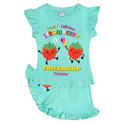 "20-00104 ""Strawberry"", костюм для девочки, 1-4 года, минт"