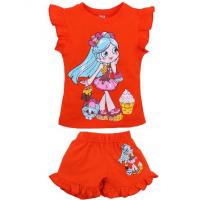 20-00105 Костюм для девочки, 1-4 года, оранжевый