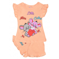 20-004207 Костюм для девочки, 1-4 года, персиковый