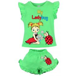 """20-00106 """"Ladybug"""", костюм для девочки, 1-4 года, салатовый"""