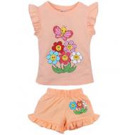 20-00106 Костюм для девочки, 1-4 года, персиковый