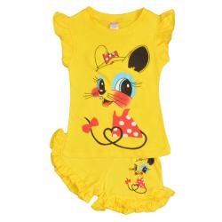 """20-00107 """"Mouse"""", костюм для девочки, 1-4 года, желтый"""