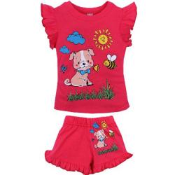 20-00107 Костюм для девочки, 1-4 года, коралловый