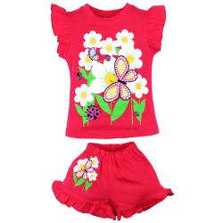 """20-00108 """"Flowers"""", костюм для девочки, 1-4 года, красный"""