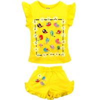 20-00109 Костюм для девочки, 1-4 года, желтый