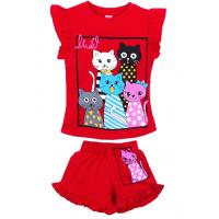 """20-001244 """"5 Cats"""", костюм для девочки, 1-4 года, красный"""