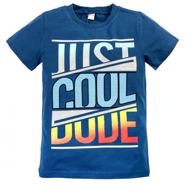 """20-103105 """"Just Cool"""" Футболка, 8-12 лет, синий"""