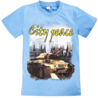 "20-003109 ""City Peace"" Футболка, 8-12 лет, голубой"