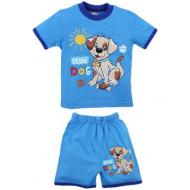 """20-01102 """"Little Dog"""" Костюм для мальчика, 1-4 года, голубой"""