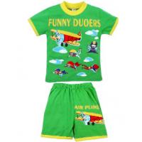 """20-01104 """"Funny Duoers"""" Костюм для мальчика, 1-4 года, салатовый"""