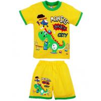 """20-01106 """"Monster"""" Костюм для мальчика, 1-4 года, желтый"""
