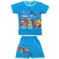 "20-01110 ""Train"" Костюм для мальчика, 1-4 года, голубой"