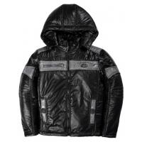 20-03001 Демисезонная куртка для мальчика, 8-12 лет, черный