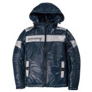 20-03002 Демисезонная куртка для мальчика, 8-12 лет, т-синий
