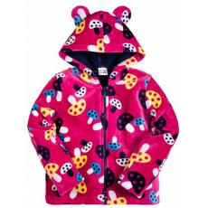 """20-04902k Куртка с """"Ушками""""для девочки, велсофт, 2-5 лет"""