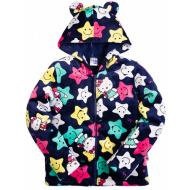 """20-04903k Куртка с """"Ушками""""для девочки, велсофт, 2-5 лет"""