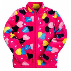 20-05001k Куртка для девочки, велсофт, 2-5 лет
