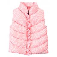 """20-05405 """"Цветы"""" Жилет для девочки, 1-4 года, розовый"""
