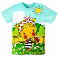 "20-10106 ""Village Girl"" Футболка для девочки, 1-4 года, минт"