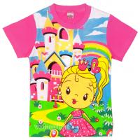 """20-10108 """"Принцесса"""" Футболка для девочки, 1-4 года, розовый"""