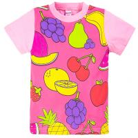 """20-10109 """"Фрукты"""" Футболка для девочки, 1-4 года, розовый"""