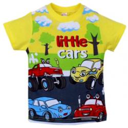 "20-101121 ""Little Cars"" Футболка для мальчика, 1-4 года, желтый"