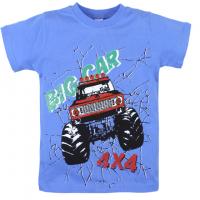 """20-102104 """"Big Car"""" Футболка для мальчика, 4-8 лет, голубой"""
