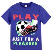 "20-102105 ""Play"" Футболка для мальчика, 4-8 лет, синий"