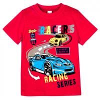"""20-102109 """"Racers"""" Футболка для мальчика, 4-8 лет, красный"""