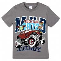 """20-102113 """"Truck Race"""" Футболка для мальчика, 4-8 лет, серый"""