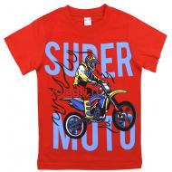 """20-1021212-88 """"Super Moto"""" Футболка для мальчика, 4-8 лет, красный"""