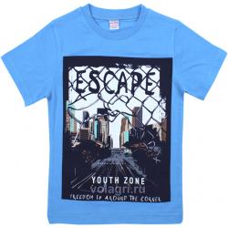"""20-1021213 """"Escape"""" Футболка для мальчика, 4-8 лет, голубой"""