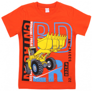 "20-102123 ""Workzone"" Футболка для мальчика, 4-8 лет, оранжевый"