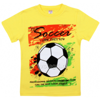 "20-102128 ""Soccer"" Футболка для мальчика, 4-8 лет, желтый"
