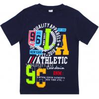 "20-102129 ""Athletic"" Футболка для мальчика, 4-8 лет, т-синий"