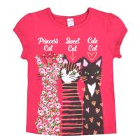"""20-102208 """"3 Cats"""" Футболка для девочки, 4-8 лет, розовый"""