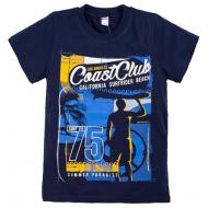 "20-003-6 ""Coast Club"" Футболка, 8-12 лет, т-синий"