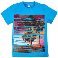 "20-003-7 ""California"" Футболка, 8-12 лет, голубой"