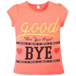 "20-103205 ""Good Bye"" Футболка, 8-12 лет, коралловый"