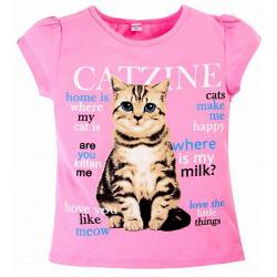 """20-103206 """"Cat"""" Футболка, 8-12 лет, розовый"""